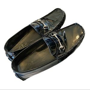 Cole Haan patent leather horse bit driving shoes